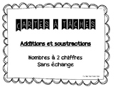 Cartes à tâches - additions et soustractions à deux chiffr