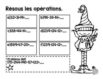 Cartes à tâches: additions et soustractions de 2 ou 3 chiffres (à imprimer)
