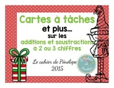 Cartes à tâches: additions et soustractions de 2 ou 3 chif