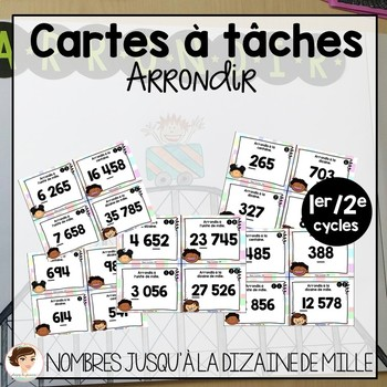 Cartes à tâches: arrondir
