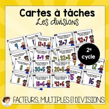 Cartes à tâches: divisions, multiples et facteurs