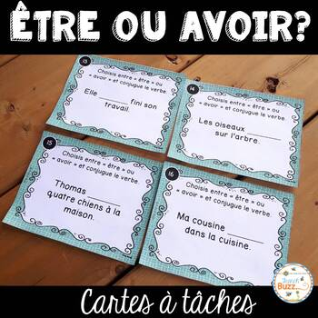 Être ou avoir ? - Cartes à tâches - French Verbs Task Cards