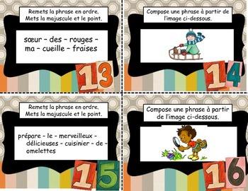 Cartes à tâches français