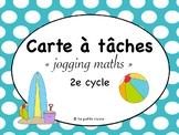 """Cartes à tâches """"jogging maths"""""""