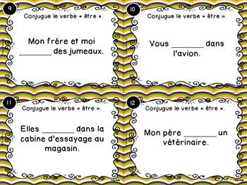 Le verbe être - Cartes à tâches - French Verbs Task Cards