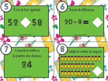 Cartes à tâches mathématiques 1er cycle