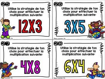 Cartes à tâches: multiplications, multiples et facteurs