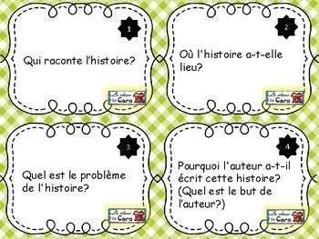 Cartes à tâches pour la LECTURE (French Reading Task Cards)