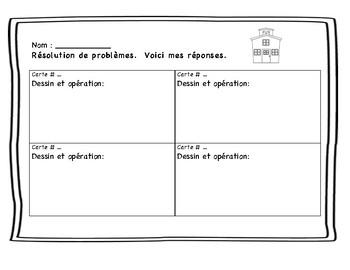 Cartes à tâches : résolution de problèmes. L'école.