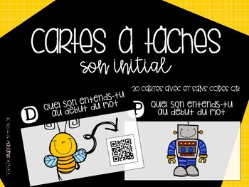 Cartes à tâches [son initial] {FRENCH Task Cards - Beginning Sounds}