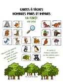 Cartes à tâches sur les nombres pairs et impairs