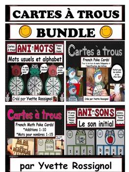 Cartes à trous (ensemble complet) BUNDLE (French Poke Cards)