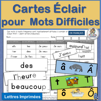French: Cartes Éclair pour Mots Difficiles works well with
