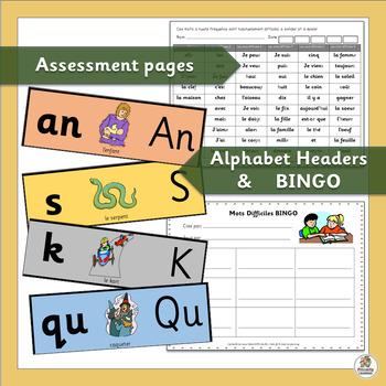 French: Cartes Éclair pour Mots Difficiles  (SASSOON)