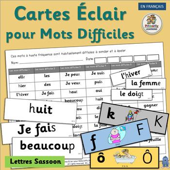 French ~ Cartes Éclair pour Mots Difficiles | Sassoon Font