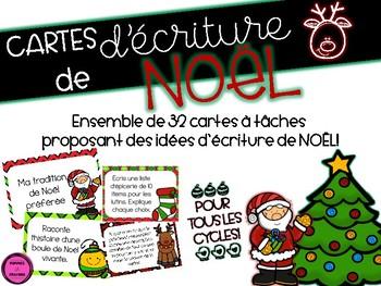 Cartes d'écriture *Noël*