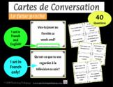 Cartes de Conversation - Le futur proche - French Near Future