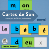 French Phonics Cartes de Son    French Sound Cards   Lettres SASSOON