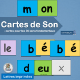French Phonics Cartes de Son – Cartes pour les 36 sons fundamentales