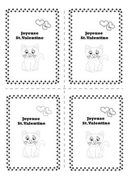 Cartes de St. Valentine - French St. Valentine's Day Cards