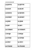 Cartes de choisir to go with LOTO DE LA NOURRITURE