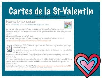 Cartes de la st-valentin