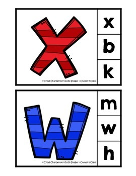 Cartes de l'alphabet - Épingle à linge
