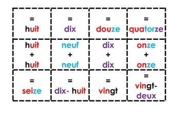 Jeux de mémoires (les doubles) Français/English