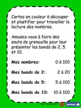 Cartes de nombres - Maternelle