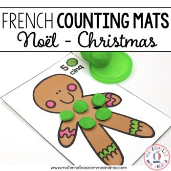 Cartes de pâte à modeler - Noël (FRENCH Christmas counting modelling dough mats)
