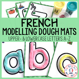 Cartes de pâte à modeler - l'alphabet (FRENCH alphabet modelling dough mats)