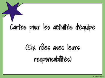 Cartes de rôles pour les activités d'équipe
