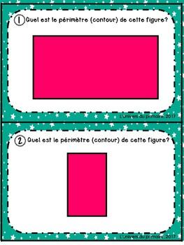 Cartes de tâches - Task Cards - Périmètre _Contour_Maths