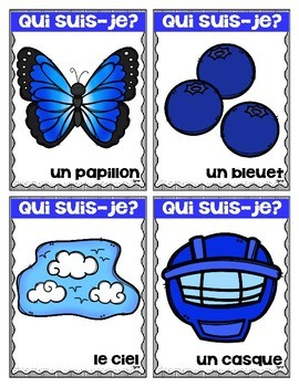 Cartes de vocabulaire ☼ Qui suis-je?
