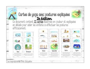 Cartes de yoga 2e édition FRENCH yoga cards 2nd series