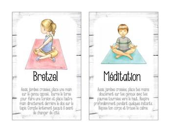 Cartes de yoga FRENCH yoga cards
