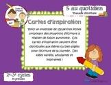 Cartes d'inspiration (travaux d'écriture)