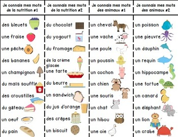 Cartes d'étude et d'écriture des mots/ French writing and word work cards