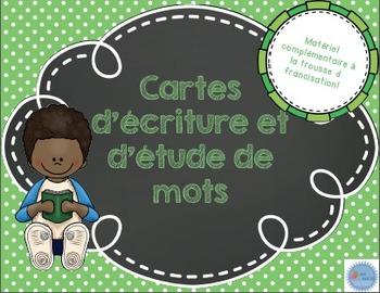 Cartes d'étude et d'écriture des mots/ French writing and