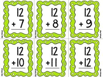 Cartes-éclair - Additions et soustractions 1 à 12