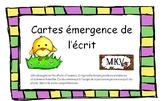 Cartes émergence de l'écrit Pâques- Printemps