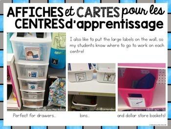 Cartes et affiches pour les centres de littératie (FRENCH Literacy Centre Cards)