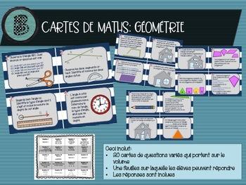 Cartes géométrie