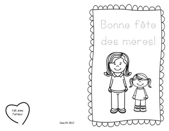 Cartes fête des mères gratuit! / French Mother's Day Card Freebie!