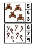 Cartes mathématique de Noël - Épingle à linge