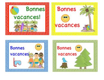 Cartes postales - Bonnes vacances - FREEBIE