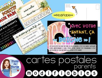 Cartes postales positives pour parents ***modifiables***