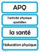Cartes pour l'horaire du jour - Schedule Cards for French Classroom (Lt Blue)