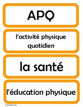 Cartes pour l'horaire du jour - Schedule Cards for the French Classroom (Orange)