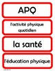 Cartes pour l'horaire du jour - Schedule Cards for the French Classroom (Red)
